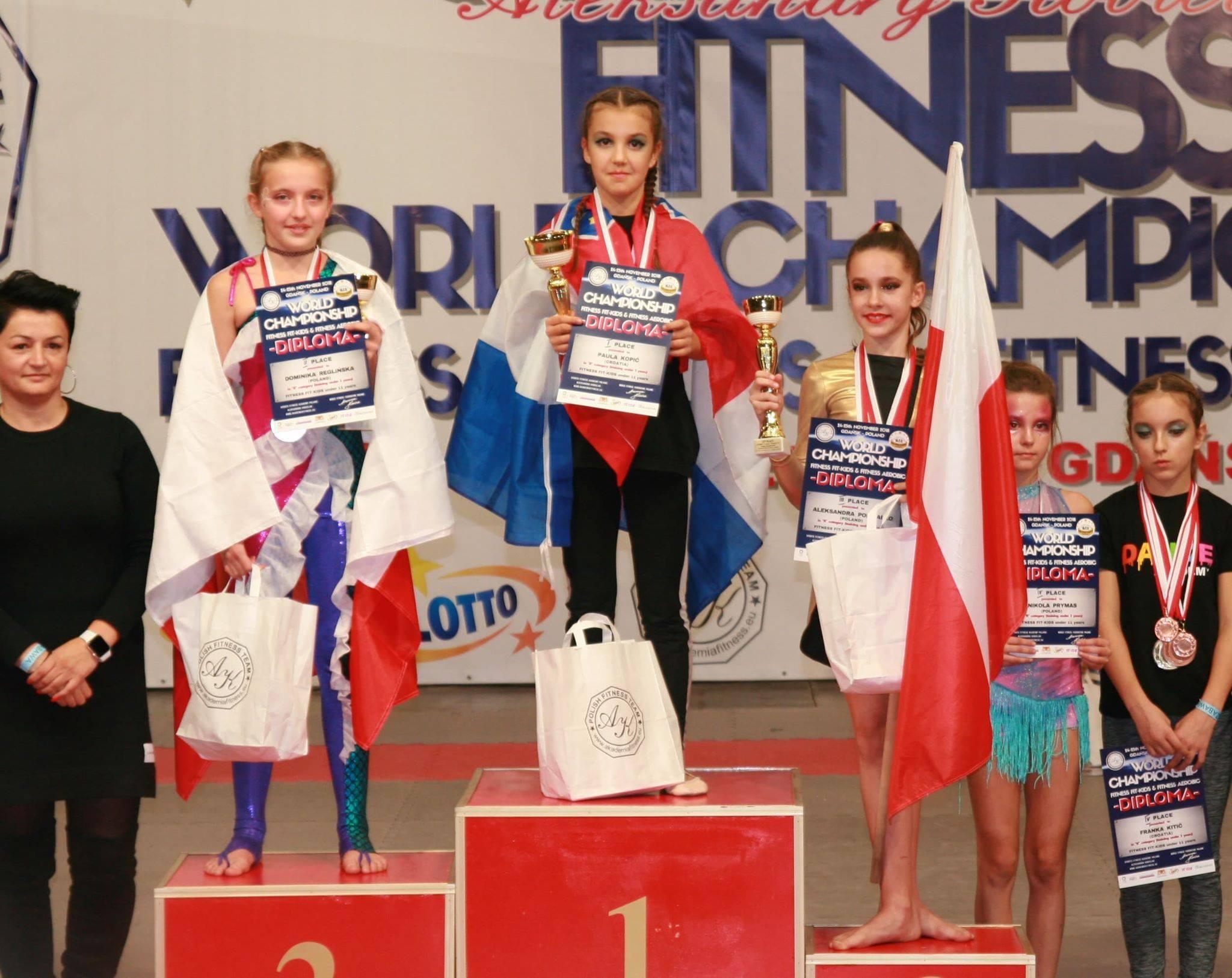 24-25 listopada 2018 roku odbyły się Mistrzostwa Świata w Fitness Fit-Kid & Fitness Aerobic. Uczennica klasy VD – Dominika Reglińska zajęła II miejsce w kategorii wiekowej do 11 lat. Serdecznie gratulujemy. Jesteśmy tacy dumni!