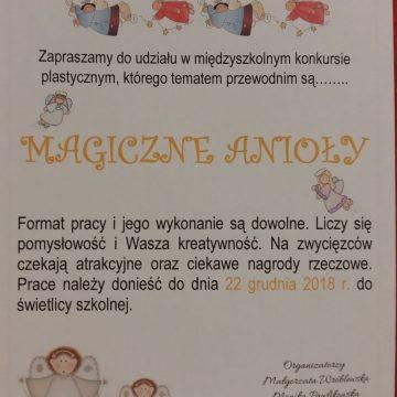 """Uwaga! Uwaga! Gorrrąco zapraszamy do udziału w świetlicowym, aniołowym konkursie """"Magiczne Anioły"""" 👼"""