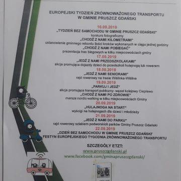 Europejski Tydzień Zrównoważonego Transportu w gminie Pruszcz Gdański