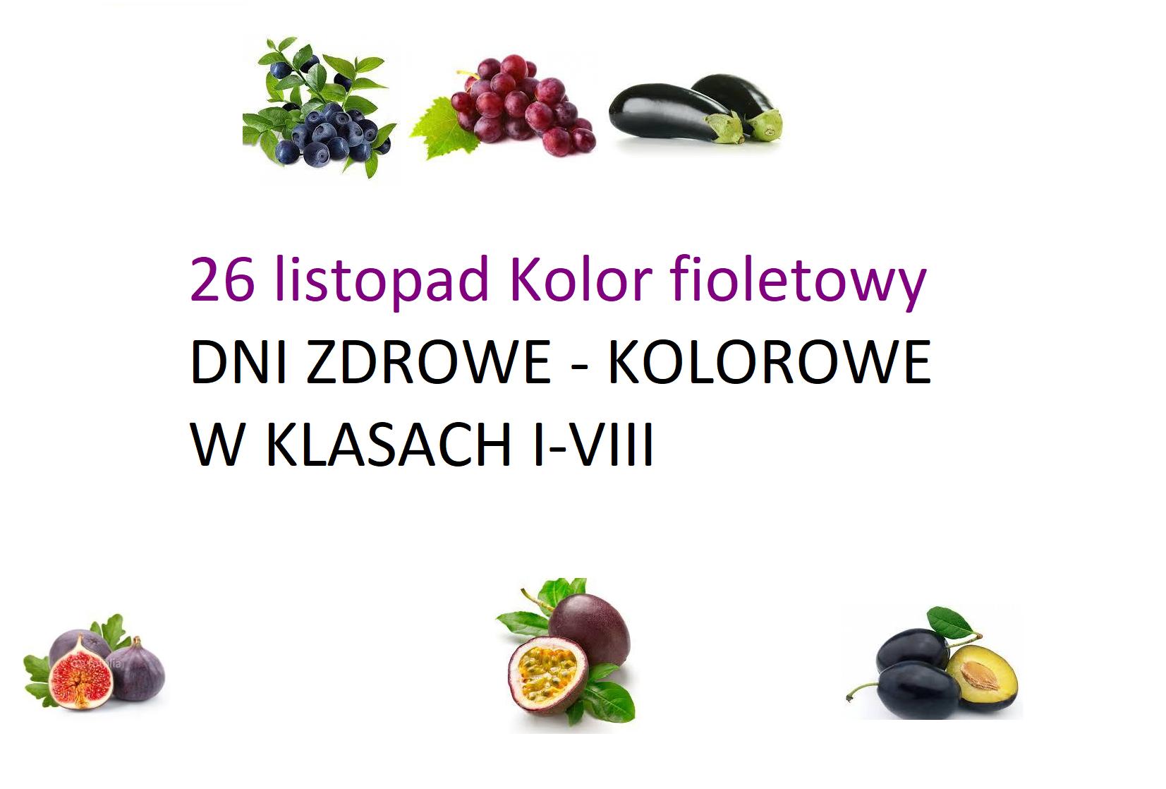 26 listopad Kolor fioletowy
