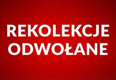 Z powodu zagrożenia koronawirusem zapowiadane na okres od 16 do 25 marca rekolekcje dla dzieci i młodzieży we wszystkich parafiach gminy Pruszcz Gdański są odwołane.