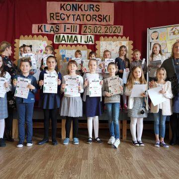SZKOLNY KONKURS RECYTATORSKI KLAS I-III SP.
