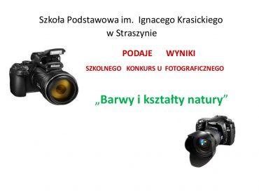 KONKURS FOTOGRAFICZNY- WYNIKI